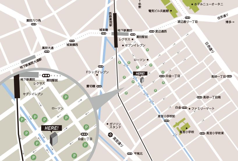 メディアクロス周辺マップ