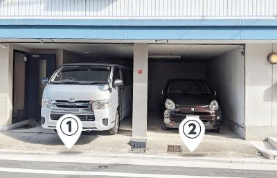 弊社営業車1台および、打ち合わせでご来社されたお客様専用の駐車スペース